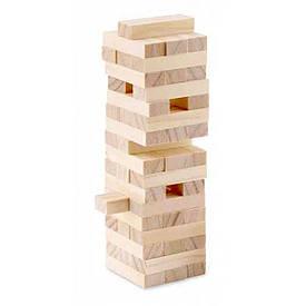 """Гра настільна """"Дженга"""", масив дерева (54 бруска)(25х7х7 см)"""