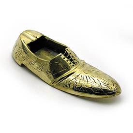 """Попільничка туфля бронзова (11х4,5х3 см)(4"""")"""