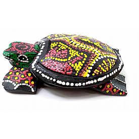 Попільничка черепаха дерев'яна мальована (12х8х3 см)