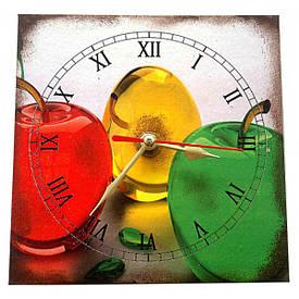 """Годинник """"Яблука"""" (15*15см.)"""
