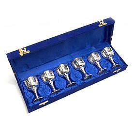 Келихи бронзові посріблені (h-8 см)(н-р 6 шт)(38х11х6 см)