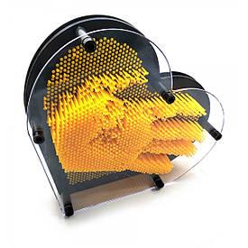 "Пинарт ""Серце"" жовтий (22,5х20х4,5 см)"