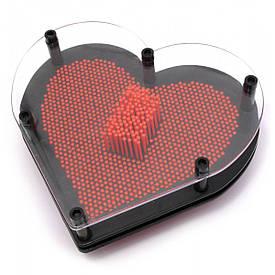 """Пинарт """"Серце"""" червоний (19х17х4 см)"""
