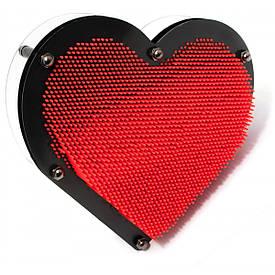 """Пинарт """"Серце"""" червоний (22,5х20х4,5 см)"""