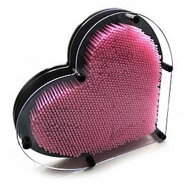 """Пинарт """"Серце"""" рожевий (22,5х20х4,5 см)"""