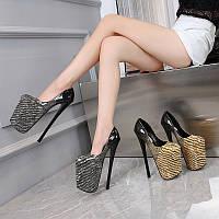 2020 летние новые туфли на очень высоком каблуке 20 см на шпильке 22 см со змеиным принтом, сексуальная женская обувь для ночного клуба, сексуальная