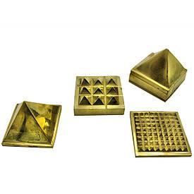 Енергетична піраміда бронзова (5х5х5 см)