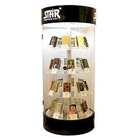 ПІД ЗАСТАВУ Стенд для запальничок обертовий з підсвічуванням (на 32 запальнички)(62,5х28,75х28,75 см)