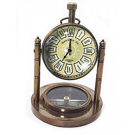 Годинник настільні з компасом (10,5х7,5х7,5 см) A
