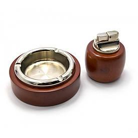 Подарунковий набір (Пепепельница з запальничкою)(19х16,5х4,5 см)