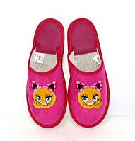 Подростковые розовые детские тапочки для девочки