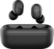 Беспроводные Bluetooth наушники Haylou GT2 с зарядным чехлом (Черный)