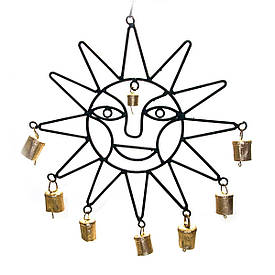 """Підвіска """"Сонце"""" з дзвіночками (50,5х31х2,5 см)"""