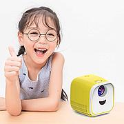 Детский портативный мини проектор для ребенка L1 Бело-Желтый