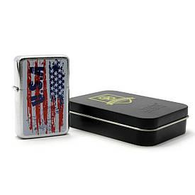 """Зажигалка бензиновая, бронзовая, в подарочной упаковке """"USA"""""""