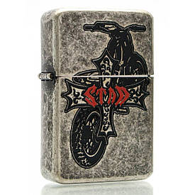 Зажигалка бензиновая, бронзовая, в подарочной упаковке 23563