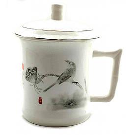 """Чашка керамічна """"Птах з метеликом"""" (14х12х9 см)"""