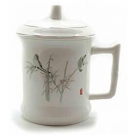 """Чашка керамічна """"Птахи"""" (14х12х9 см)"""