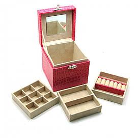 Скриня для біжутерії (13,5х13,5х12 см)