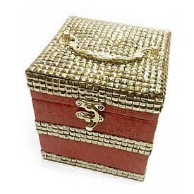Шкатулка для бижутерии красная (12,5х12,5х12,5 см)