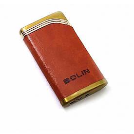 Газова запальничка турбо коричнева(6х3,5х1 см)