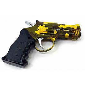 """Газова запальничка турбо з лазерною указкою """"Пістолет"""" (10х8х1,5 см)"""
