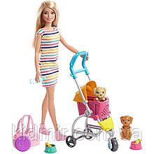 Лялька Барбі Прогулянка з цуценятами в колясці Barbie Strollin Play Pups GHV92