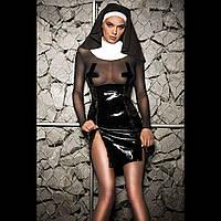 """Еротичний костюм монашки """"Скромниця Софі"""" XS/S, плаття, комір, головний убір"""