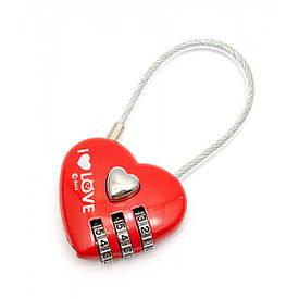 """Замок для закоханих """"Серце"""" (8х4х1,5 см)."""