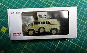 HORCH (Schw.Pkw) 108 Typ 1a/1b с тентом. Пластиковая модель в масштабе 1/87. MHI 87303