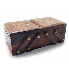 """Скринька розсувна 3 відділення (20,5х10,5х7,5 см)(7"""" Х 4"""")"""