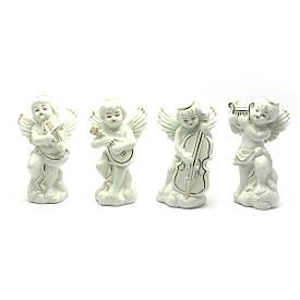 Ангели фарфор (н-р 4 шт) (11,5х7х4,5 см)