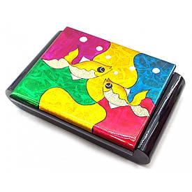 """Шкатулка з дзеркалом """"Риби"""" (24х16,5х6 см)(В'єтнам)"""