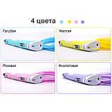 3D Ручка с пластиком 20 цветов Набор 3Д ручка 2-го поколения Pen 2 с дисплеем LCD Фиолетовая Для детей, фото 6