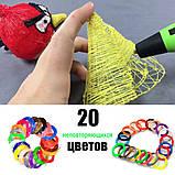 3D Ручка с пластиком 20 цветов Набор 3Д ручка 2-го поколения Pen 2 с дисплеем LCD Фиолетовая Для детей, фото 2