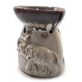 """Аромалампа керамічна """"Слони"""" (11,5х9х9 см)"""