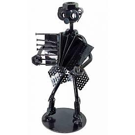 """Техно-арт """"Дама з баяном"""" метал (18,5х8х7,5 см) чорний"""
