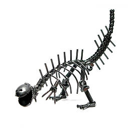 """Техно-арт """"Динозавр"""" метал (26х16х8 см)"""