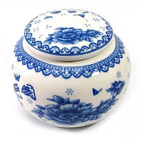 Баночка для чая керамическая (450 мл.)(10х10х9 см)