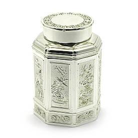 Баночка для чая металл (11х7,5х7,5 см)