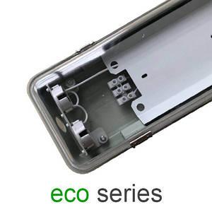 Корпус светильника под 2 LED лампы Т8 1200 мм пыле- влагозащищенный IP65 с пластиной серия ECO