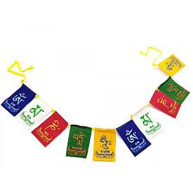 Тибетские флаги с мантрой (45х6 см)