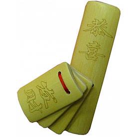 Трещетка из бамбука (13,5х3,5х3,5 см)