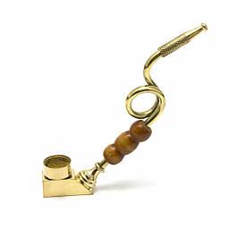 Трубка бронзова гнута (13,5х7х1,3 см)(ZIK ZAK)F