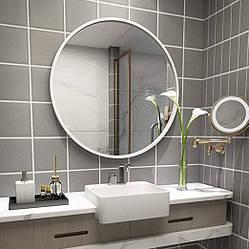 Дзеркало у ванну Round в білій рамі