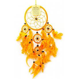 Ловец снов оранжевый (d-12 см h-45 см)