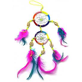 Ловец снов разноцветный (d-6 см d-5см h-32 см)