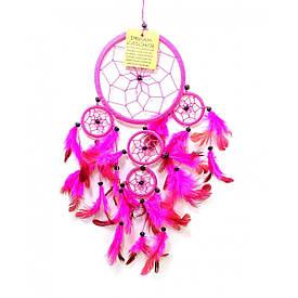 Ловец снов розовый (d-12 см h-45 см)
