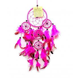 Ловець снів рожевий (d-9 см h-35 см)