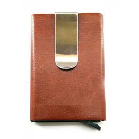 Футляр для кредитних карт з затиском для грошей з висувним механізмом(10х6,5х1,5 см)